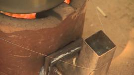 Mud oven and thermo-electric generator