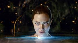 Angelina as Grendel's mother in the 2007 Beowulf film