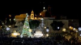 The Christmas tree in Manger Square, Bethlehem