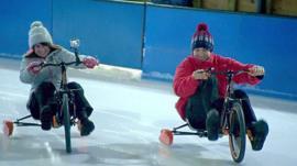 Ice biking