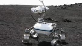 Close up of space robot