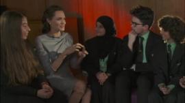 Angelina Jolie Pitt speaks to Newsround viewers