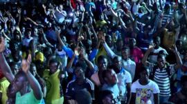 People of Sierra Leone Celebrating being Ebola free.