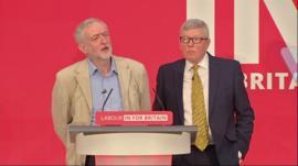 Jeremy Corbyn and Alan Johnson