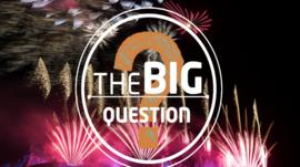 The Big Question with fireworks