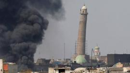 Blast in Iraq destroys Great Mosque of al-Nuri according to Iraqi forces
