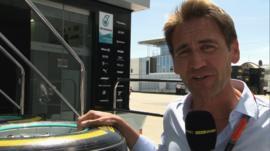 BBC F1 pit lane reporter Tom Clarkson