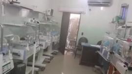 Babies in incubators