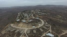 Aerial view of Jewish settlement