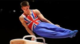 Max Whitlock on the Pommel Horse