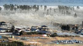 Tsunami hits northern Japan