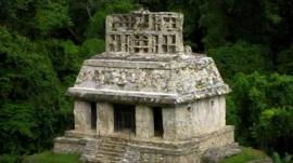 A Mayan tomb