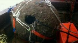 Bomb found by fishermen