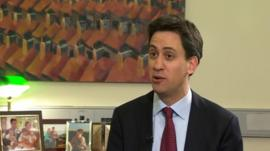 Ed Miliband speaks to the BBC's Nick Robinson
