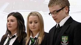 Members of St Kentigern's Academy's Seen and Heard group