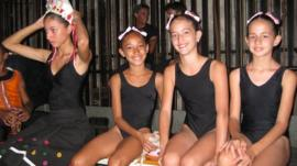 ballet dancers at Cuba's National Ballet School