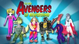 Six Newsround viewers' drawings of superheroes