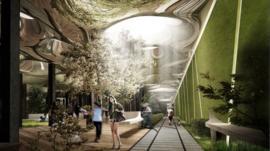 Artists' impression of Low Line park