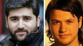 Reporter Adem Ozkose and cameraman Hamit Coskun