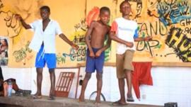 Ghanaians doing the Azonto dance