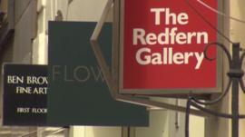 Galleries in Cork Street, Mayfair