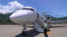 A private jet in China