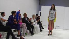 Queen, Elton John and Katy Perry lookalikes view models on catwalk