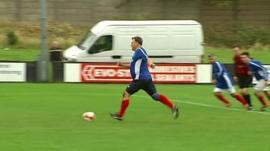 Ed Balls takes penalty