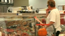Woman shopping in the US