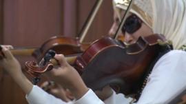 Blind violinists