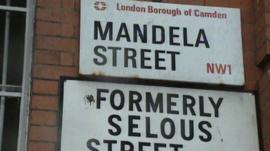 London Borough of Camden Mandela Street sign
