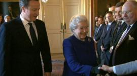 David Cameron with The Queen