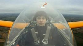 Callum in his glider