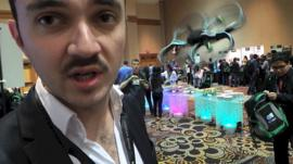 Parrot AR Drone 2.0 at CES