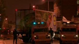 Hijacked lorry blocks east Belfast road