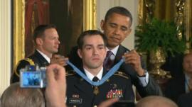 Clinton Romesha receives the Medal of Honor