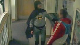 Batman at police station