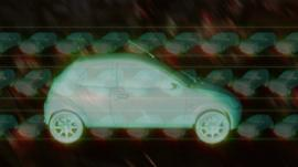 Graphic drawing of a car