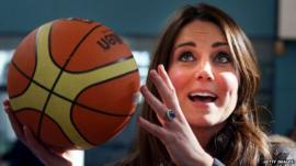 Duchess of Cambridge holding a basketball