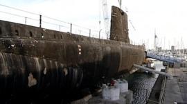 HMS Alliance prior to the restoration work