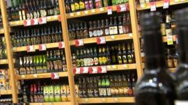 Alcohol on sale in a shop