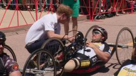 Prince Harry at Warrior Games