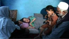 Shukria and her family in Afghanistan