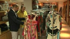 Men in retail store