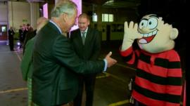 Prince Charles and Dennis the Menace