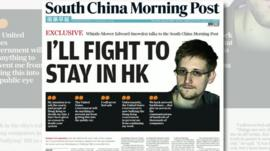 Front page of South China Morning Post