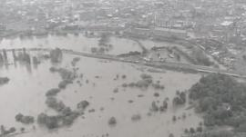 Gloucestershire during the floods of 2007