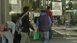 Young Greeks entering job centre
