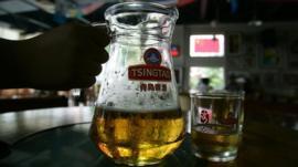 Jug of Tsingtao beer