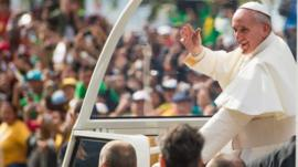 Pope Francis greets crowds of wellwishers